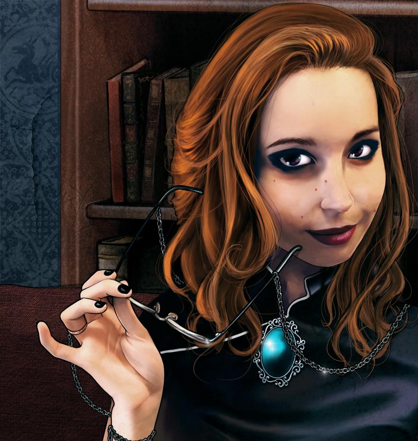 Ilustración Dark adventurer detalle