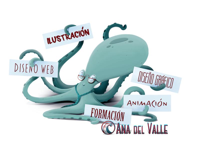 pulpo ilustración diseño