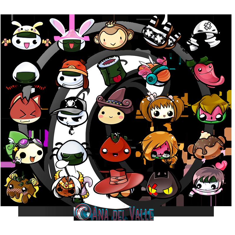 Oniople. Diseños de personajes adaptados a comidas japonesas.