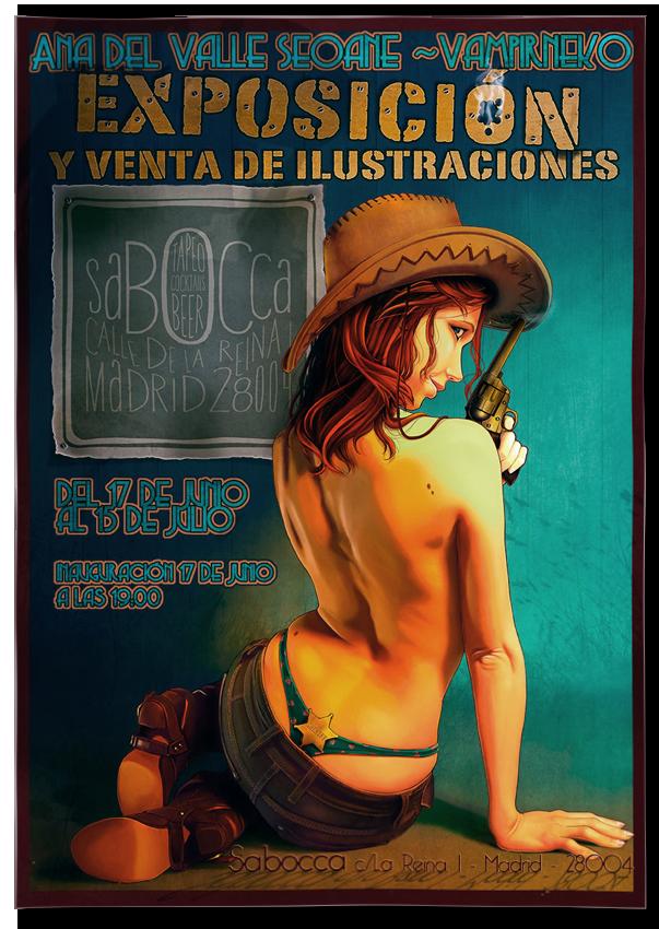 Cartel para una Exposición de Ilustración personal