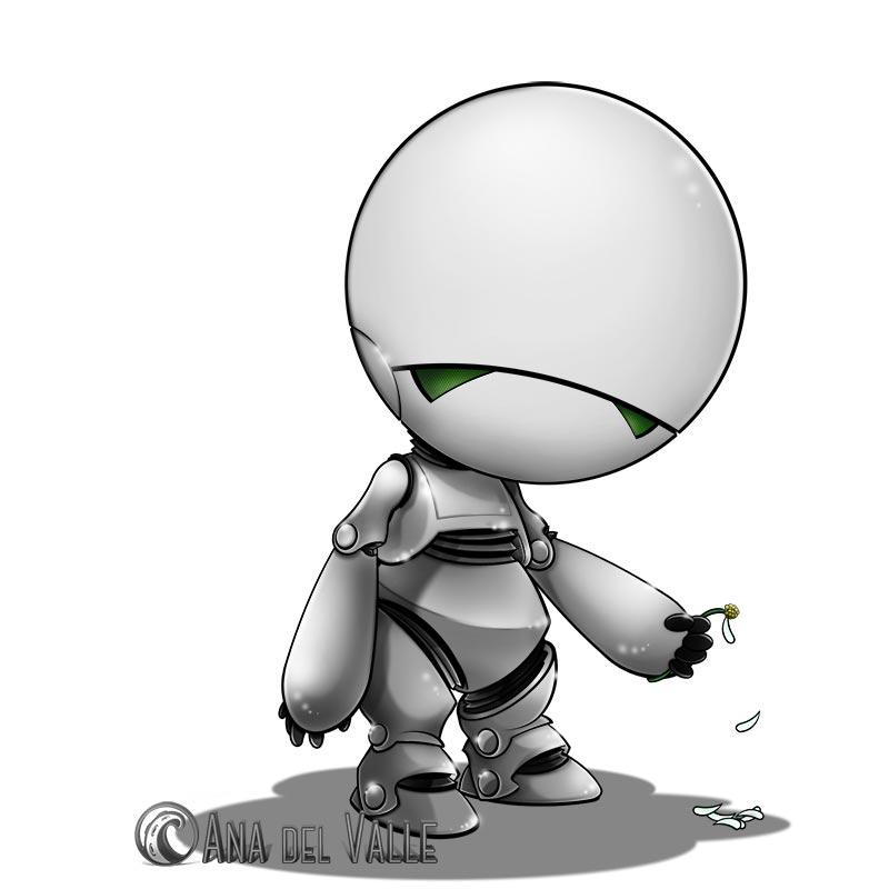 Marvin (fan-art de la Guía del Autoestopista Galáctico)