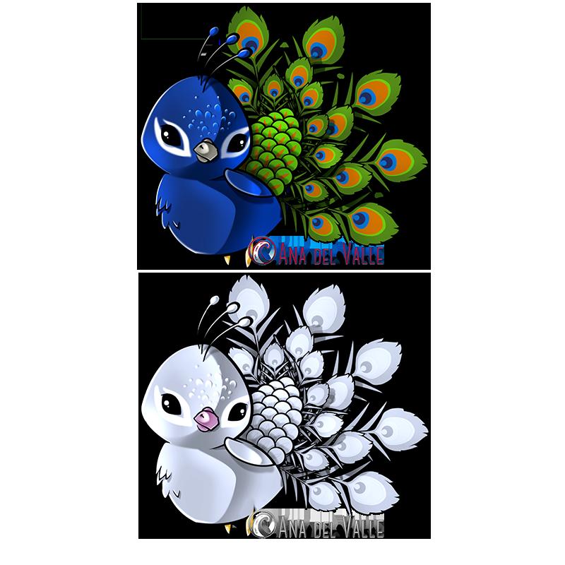 Sublime Peacock. Diseño de mascota para la marca de ropa Sublime Style