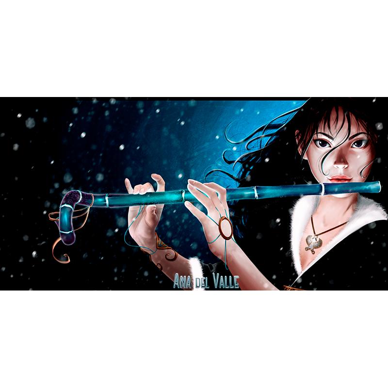 Ilustración de Leda, personaje de la novela Nirbalán, de Gloria T Dauden