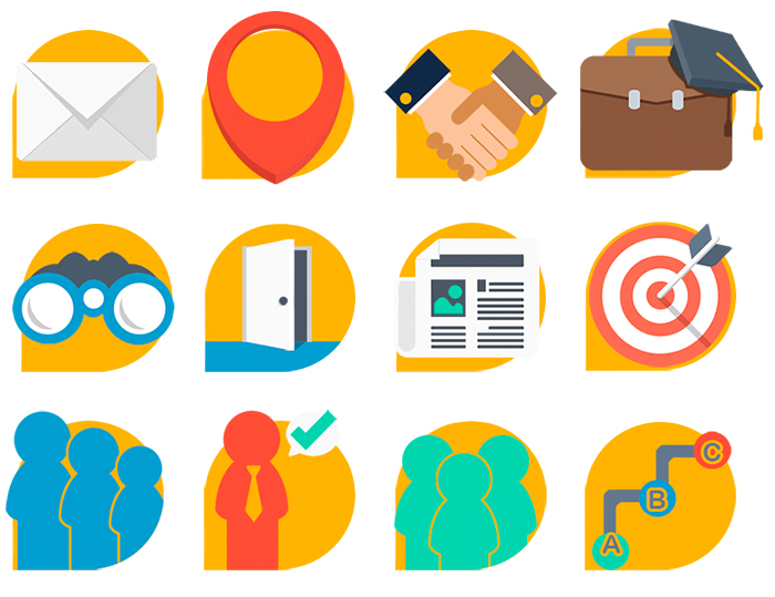 Iconos web del Centro Emprende Formación