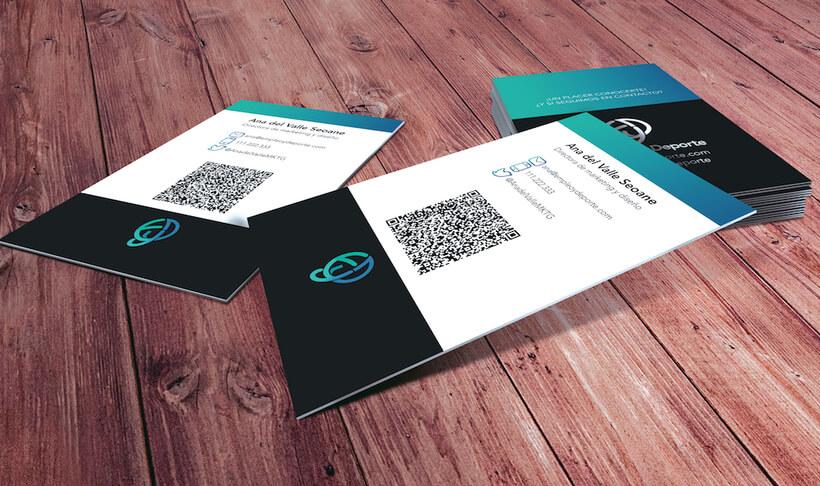 Tarjetas business card Empleo y Deporte presentación