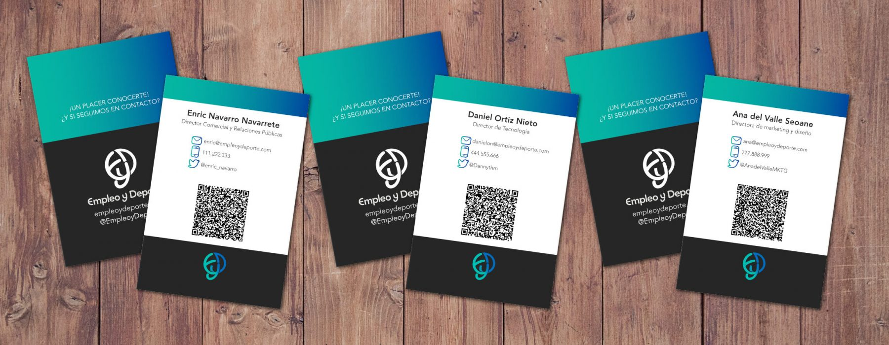 Tarjetas Business Card Empleo y Deporte juntas