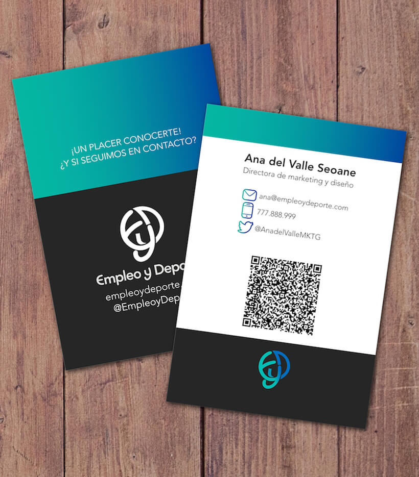 Tarjetas Business Card Empleo y Deporte Ana