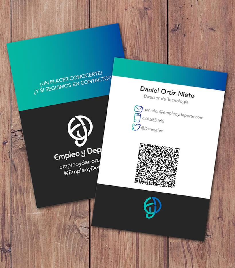 Tarjetas Business Card Empleo y Deporte Daniel