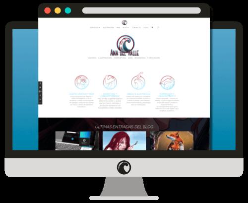 Diseño web AnadelValle.com