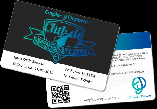 Carnet de Socio del Club de Entrenadores Empleo y Deporte