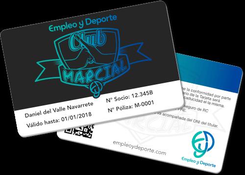 Carnet de Socio del Club Marcial Empleo y Deporte
