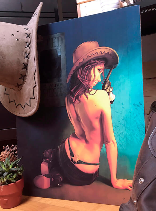 Ilustración sobre cartón pluma Hey, Little Cowboy