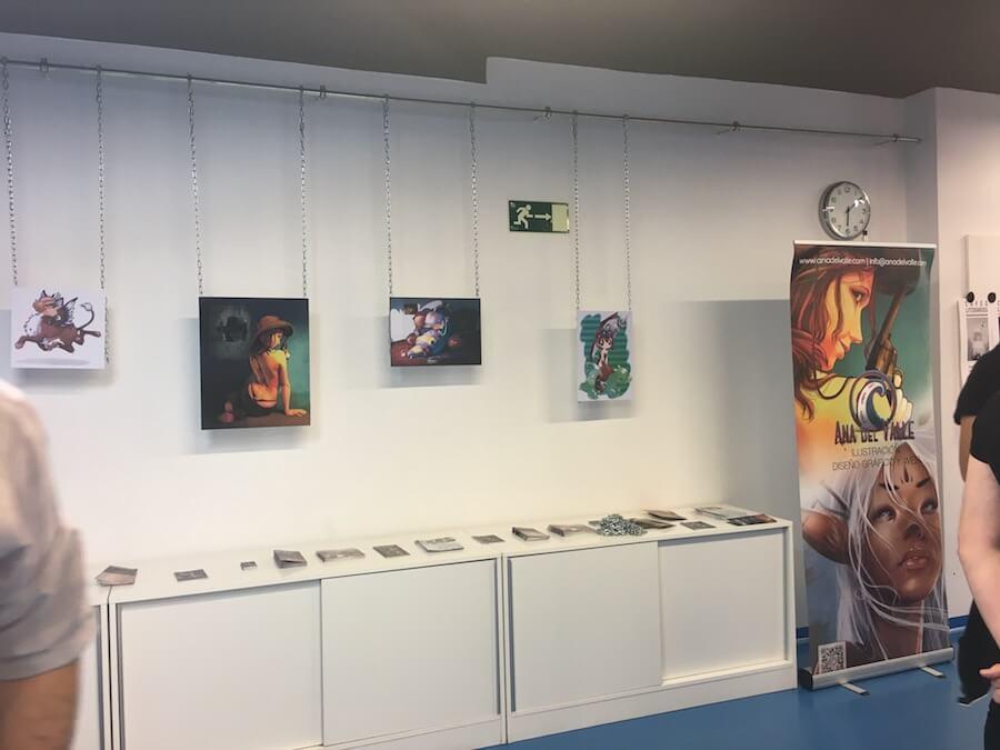 Exposición de Ilustración en Fuenlabrada de Ana del Valle