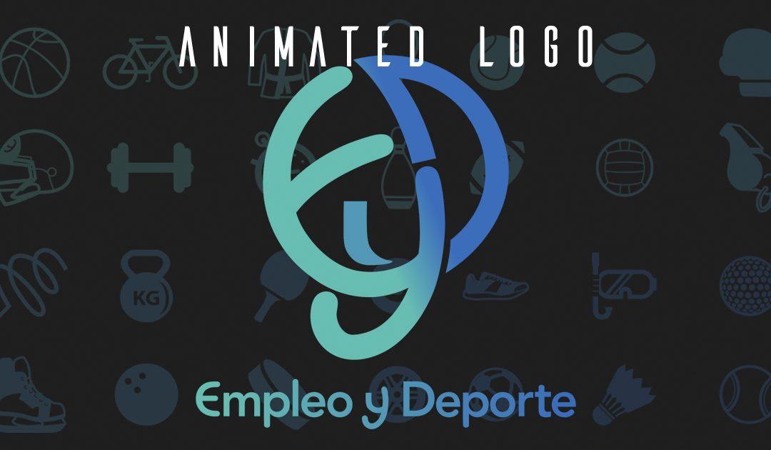 Logotipo animado para Empleo y Deporte
