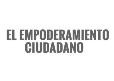 El empoderamiento ciudadano