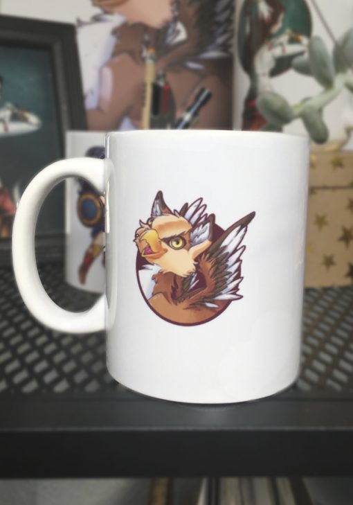 Taza Ilustración My little gryphon -Happy!