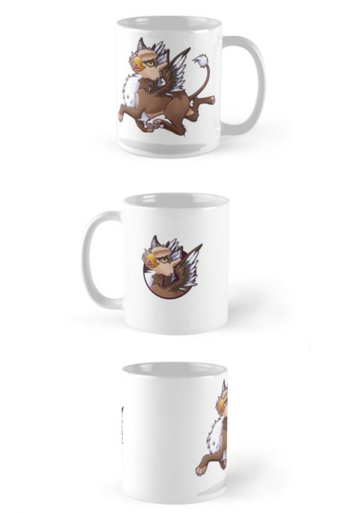Taza Ilustración My little gryphon -Happy! vistas