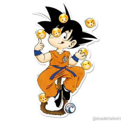 pegatina Goku The Juggler Monkey de Dragon Ball