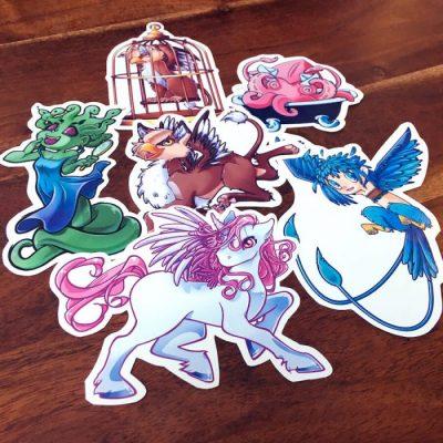 Pegatinas My little mythological friends set