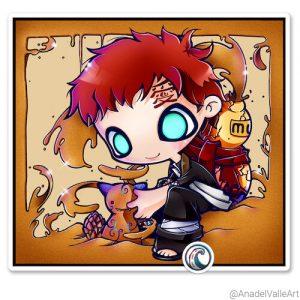 Pegatina My little Gaara-chan