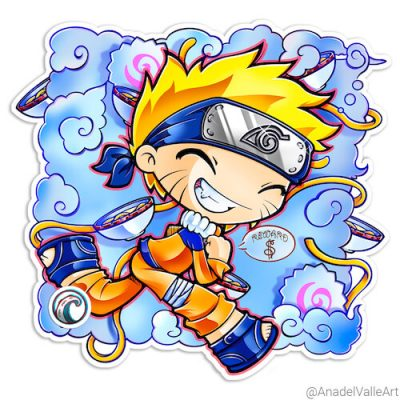 Pegatina My little Naruto-kun