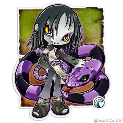 Pegatina My little Orochi-sama