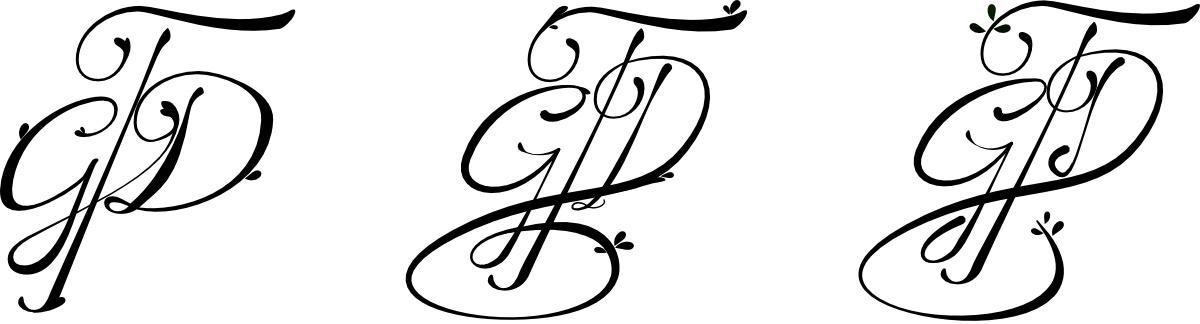 Proceso de creación del logotipo de Gloria T Dauden