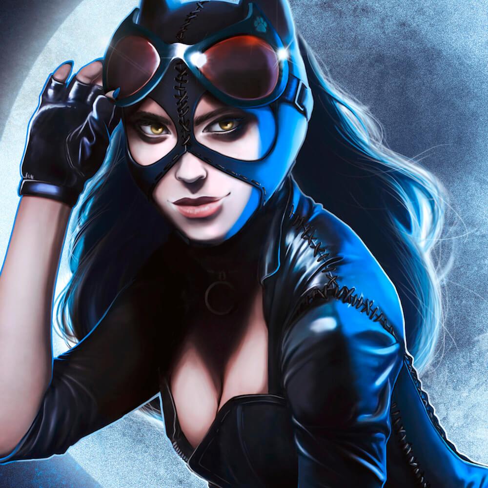 Ilustración de Catwoman detalle