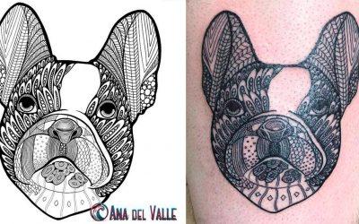 Diseño de tattoo: una mascota que quedará siempre en el recuerdo
