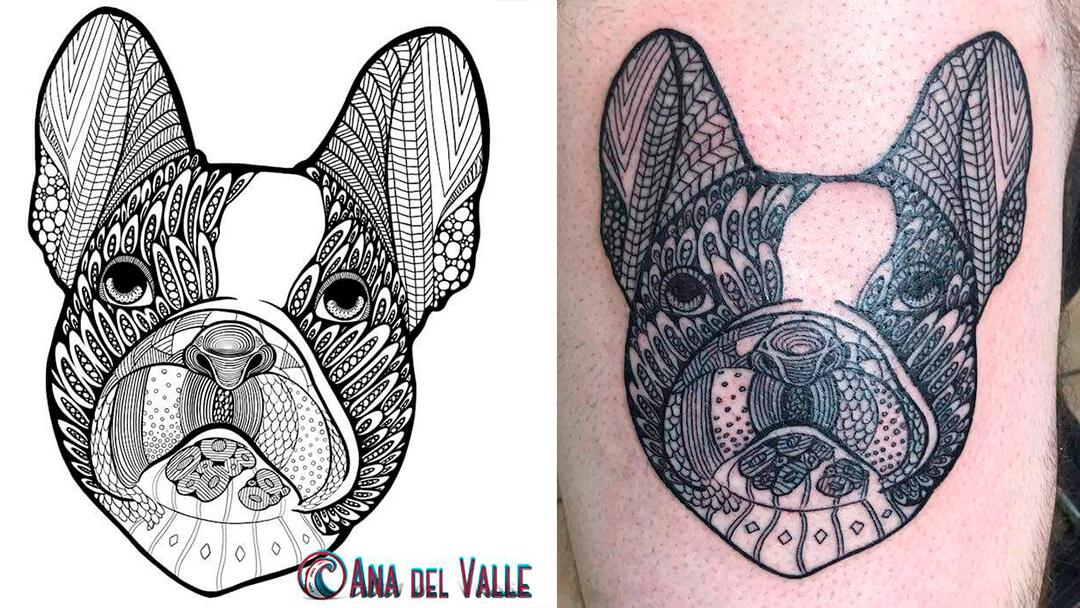 diseño de tatoo o tatuaje de mascotas