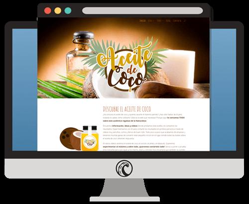 web aceite de coco