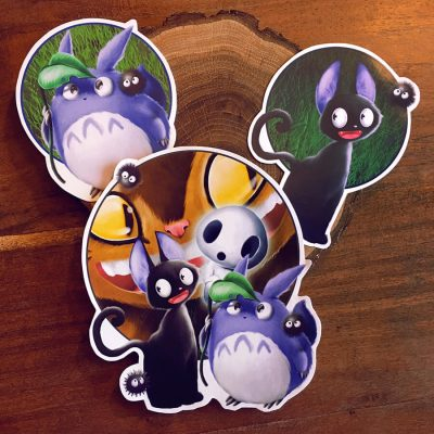 My Little Ghibli crew pegatina SET