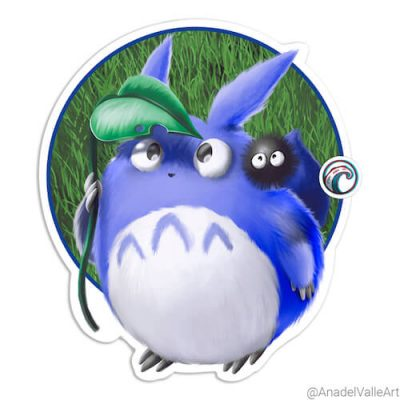 My Little Ghibli crew Totoro pegatina