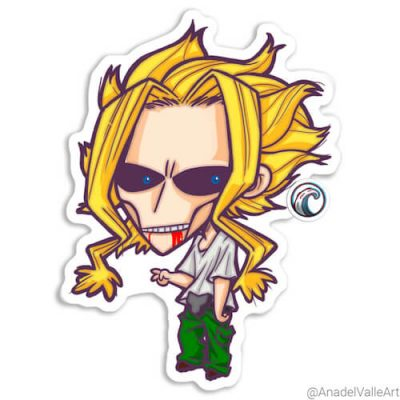 My little All Might pegatina