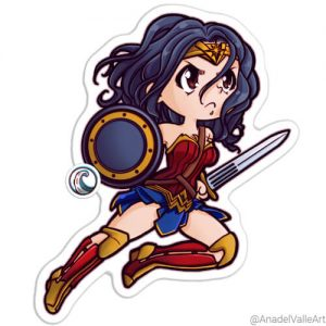 My Little Wonder Woman pegatina