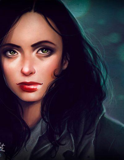 Ilustración fanart Jessica Jones JJ