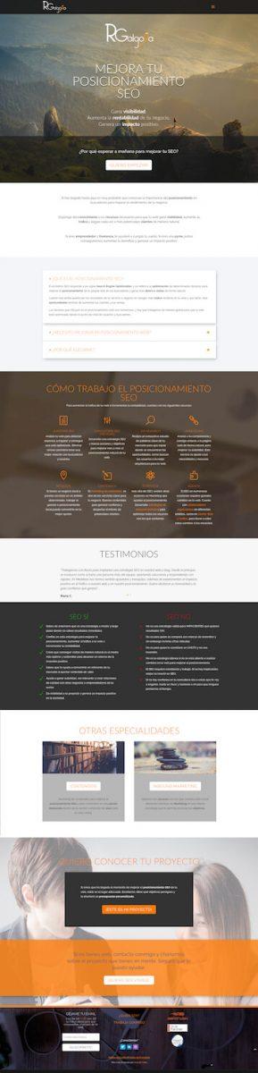 Diseño web de Posicionamiento SEO Rgalgora