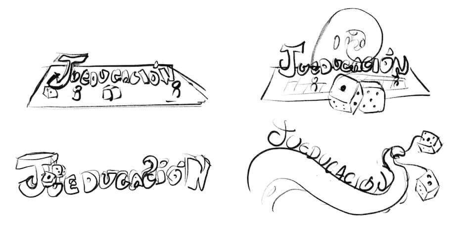 logo Jueducacion bocetos