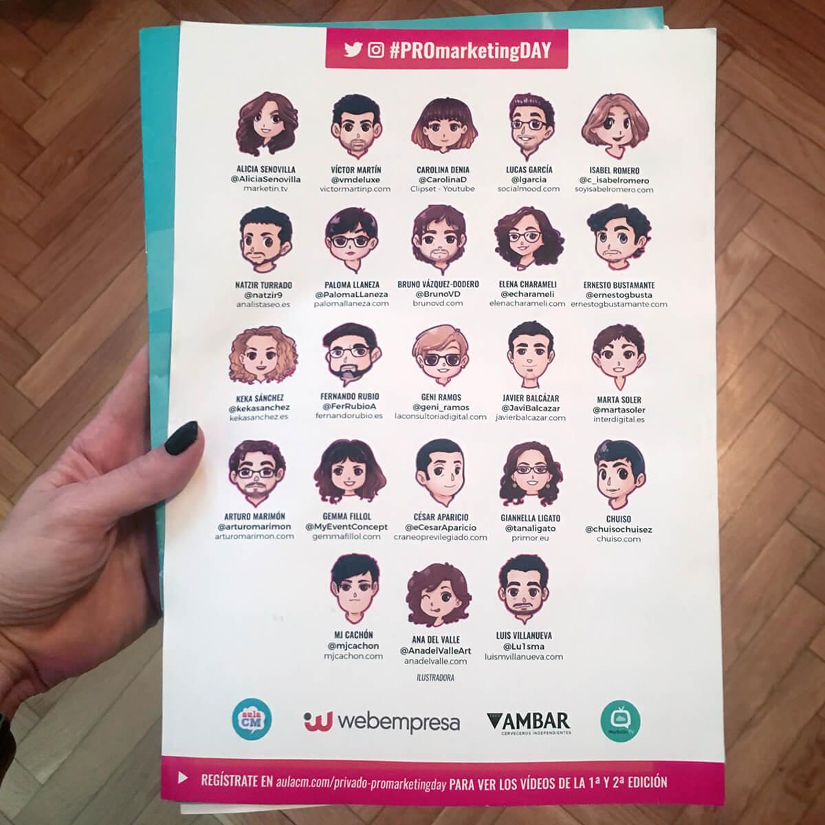 Ponentes Pro Marketing Day en el catálogo