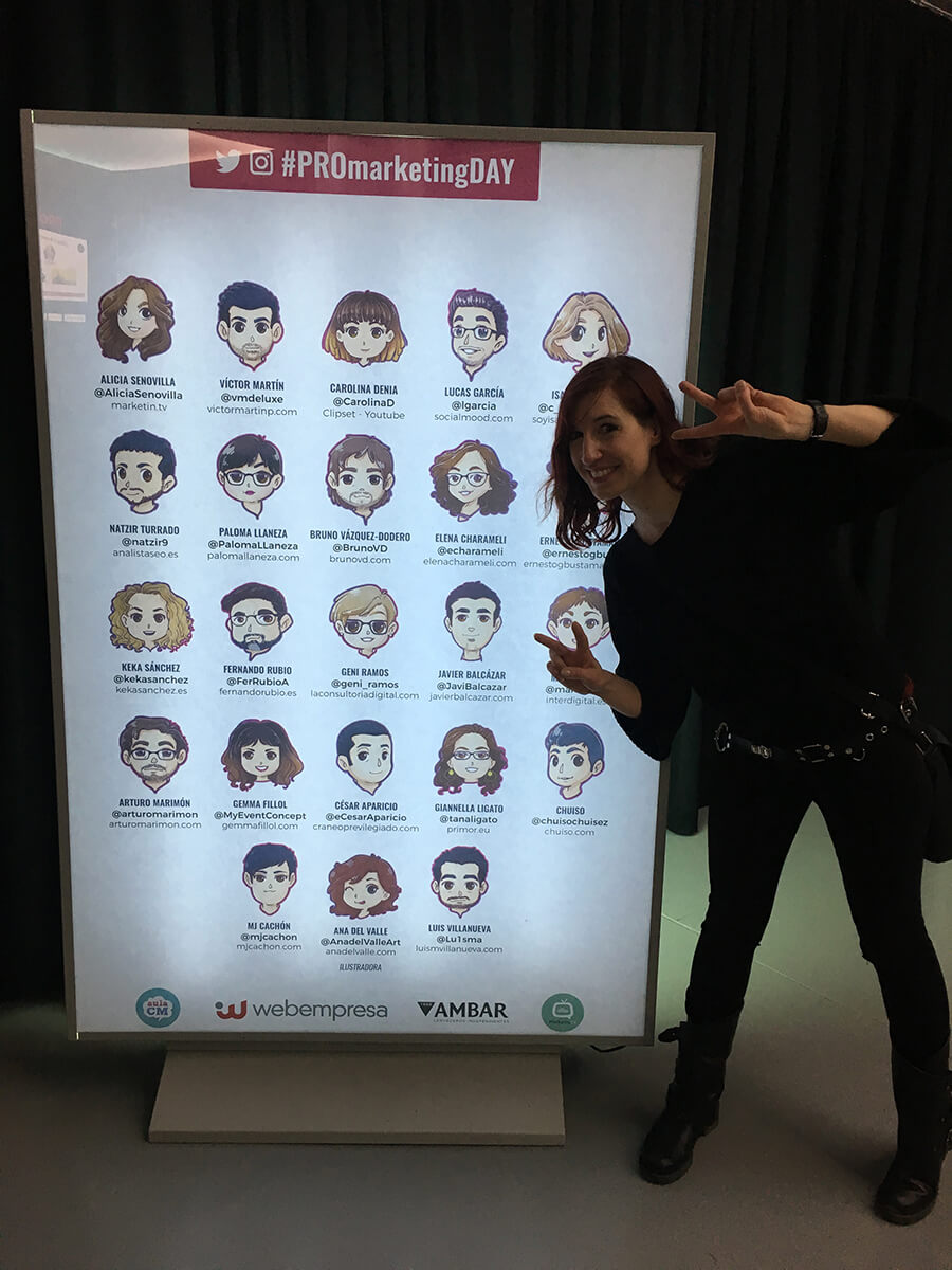 Ponentes Pro Marketing Day en el Photowall