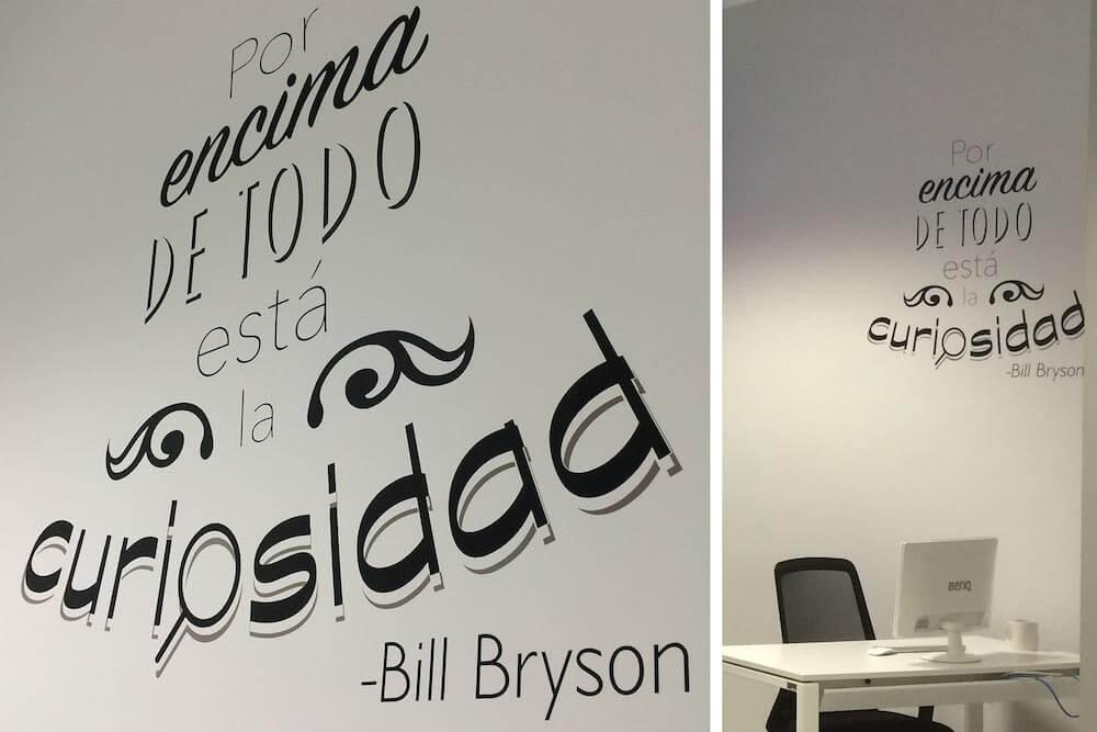 Diseños con tipografía sobre vinilo adhesivo