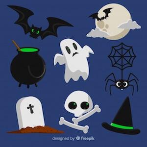 Diseño gratuito para Halloween elementos