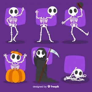 Diseño gratuito para Halloween esqueletos