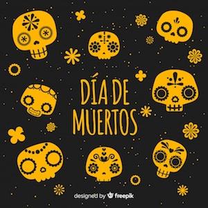 Diseño gratuito para el Día de Muertos Calaveras