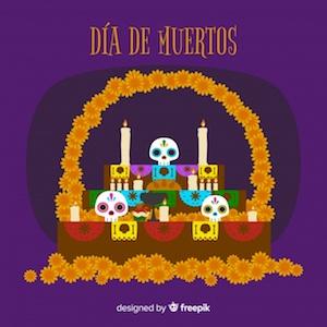 Diseño gratuito para el Día de Muertos altar