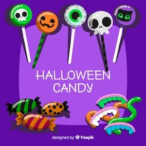 Diseño gratuito para Halloween caramelos