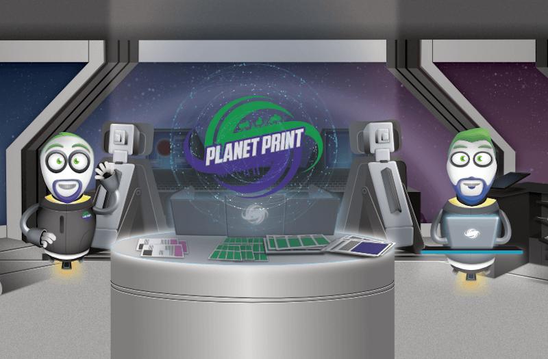 Diseños de iconos e ilustración para Planet Print