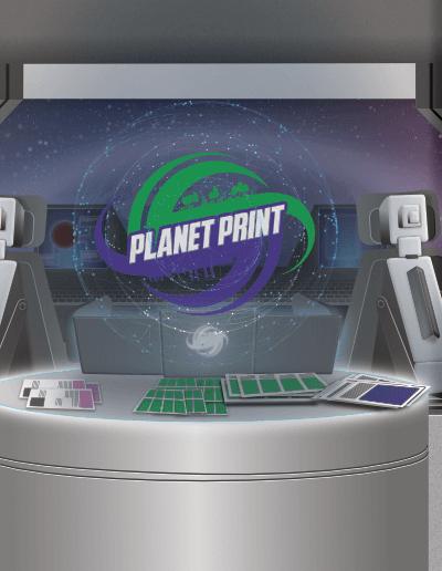 diseño nave planet print