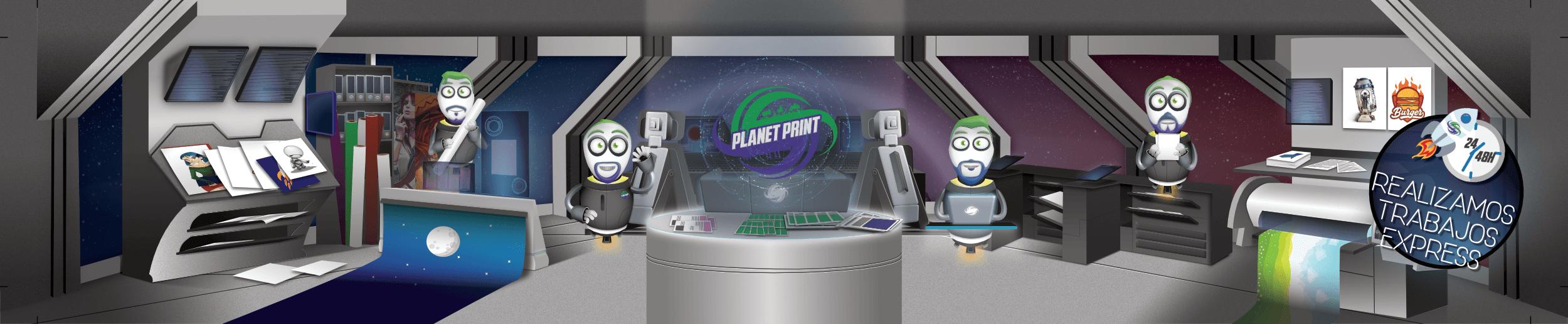 diseño nave planet print imprenta