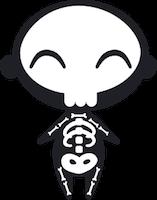 halloween niño disfrazado de esqueleto